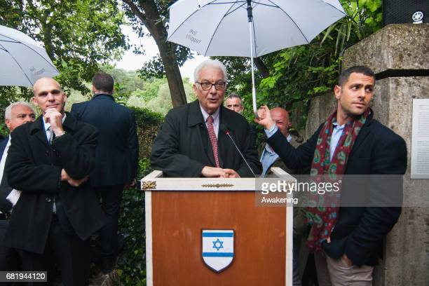 Paolo Baratta, president of La Biennale, attends at the opening of the Israel pavilion, presenting the project 'Sun Stand Still' of Gal Weinstein at...