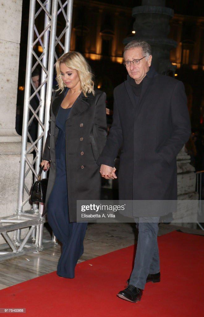 Paolo Bonolis And Wife Sonia Bruganelli Attend A Casa Tutti Bene Premiere On February