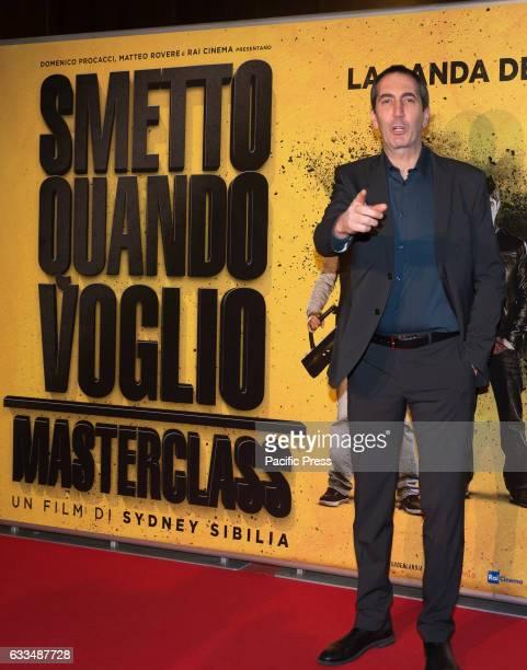 """Paolo Calabresi attends a Red Carpet for """"Smetto quando voglio - Masterclass""""."""