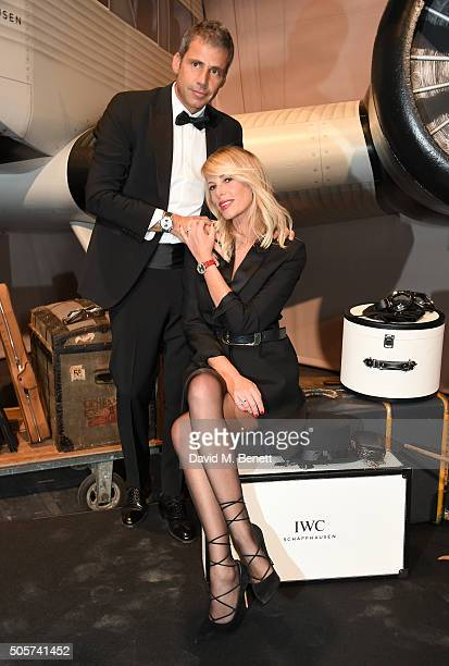 Paolo Calabresi Marconi and Alessia Marcuzzi attend the IWC Come Fly with us Gala Dinner during the launch of the Pilot's Watches Novelties from the...