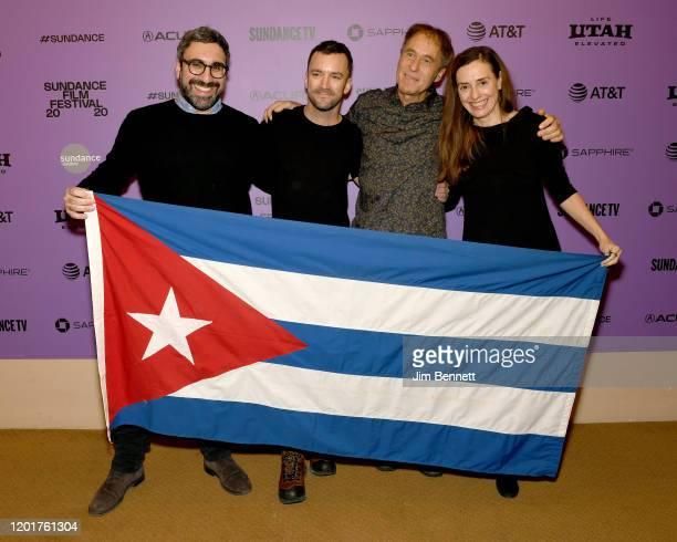 Paolo Calmita Martin Marquet Hubert Sauper and Gabriele Kranzelbinder attend the Epicentro premiere during the 2020 Sundance Film Festival at...