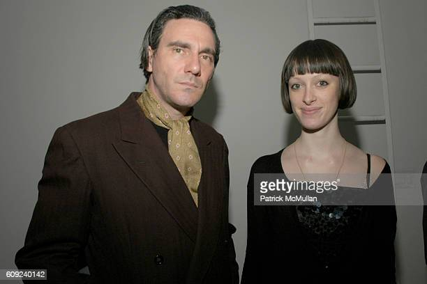 Paolo Canevari and Catarina Neubrater attend Max Azria Banquet with Performance by Gelatin and Guests at Deitch Projects on February 3 2007 in New...