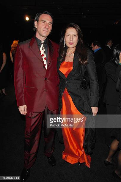 Paolo Canevari and Marina Abromovic attend GUGGENHEIM INTERNATIONAL GALA at Hudson River Park Pier 40 N.Y.C. On November 8, 2007.