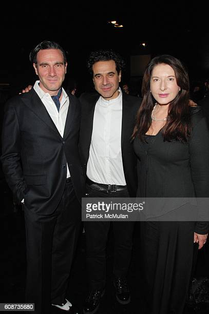 Paolo Canevari Ennio Capasa and Marina Abramovic attend ENNIO CAPASA COSTUME NATIONAL celebrates 21st Anniversary of the brand with launch of limited...