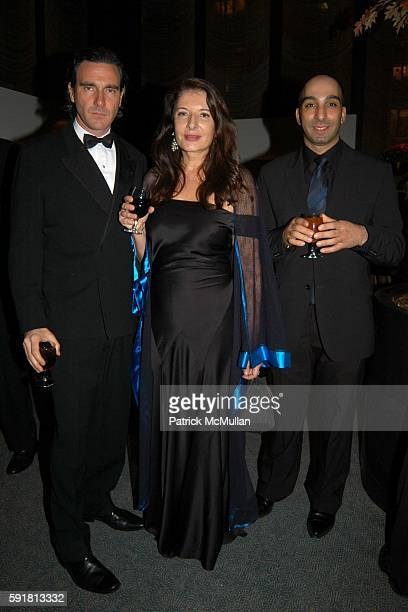 Paolo Canevari Marina Abromovic and Aziz attend The Guggenheim International Gala at Seagram Plaza on November 7 2005 in New York City