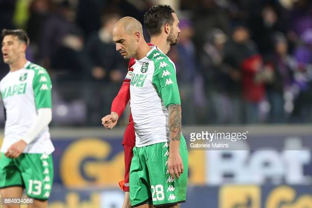 Paolo Cannavaro of US Sassuolo Calcio shows his dejection during the Serie A match between ACF Fiorentina and US Sassuolo at Stadio Artemio Franchi...