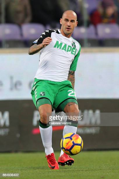 Paolo Cannavaro of US Sassuolo in action during the Serie A match between ACF Fiorentina and US Sassuolo at Stadio Artemio Franchi on December 3 2017...