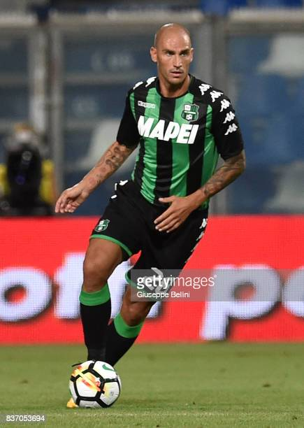 Paolo Cannavaro of US Sassuolo in action during the Serie A match between US Sassuolo and Genoa CFC at Mapei Stadium Citta' del Tricolore on August...