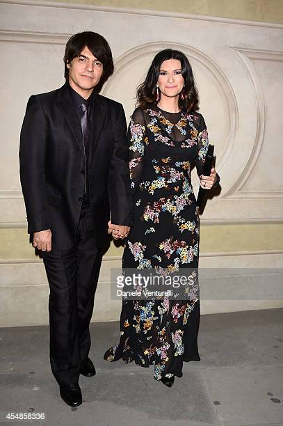 Paolo Carta and Laura Pausini attends 'Celebrity Fight Night In Italy' Gala at the Palazzo Vecchio on September 7 2014 in Florence Italy
