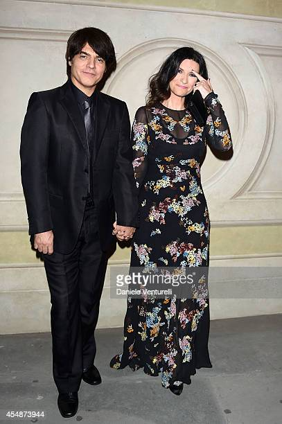 Paolo Carta and Laura Pausini attends 'Celebrity Fight Night In Italy' Gala at the Palazzo Vecchio on September 7, 2014 in Florence, Italy.