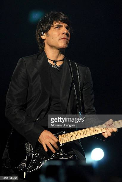 Paolo Carta performs at the Laura Pausini concert at the San Siro stadium on June 2 2007 in Milan Italy