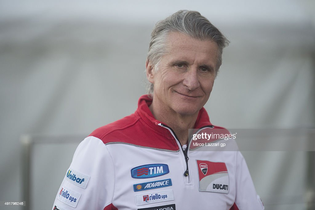 Paolo Ciabatti of Italy and Ducati Team smiles in paddock during the MotoGP Of Japan - Previews at Twin Ring Motegi on October 8, 2015 in Motegi, Japan.