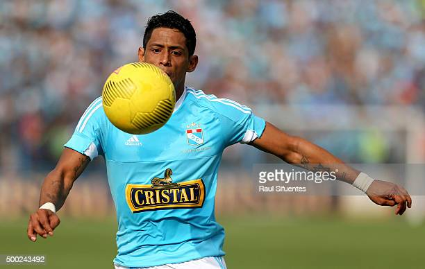 Paolo de la Haza of Sporting Cristal in action during a second leg match between Sporting Cristal and Cesar Vallejo as part of Torneo Descentralizado...