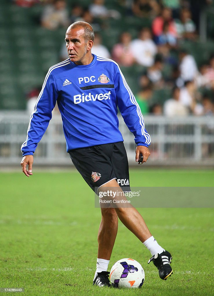 Paolo Di Canio coach of Sunderland looks on during a Sunderland Barclays Asia Trophy training session at Hong Kong Stadium on July 23, 2013 in So Kon Po, Hong Kong.