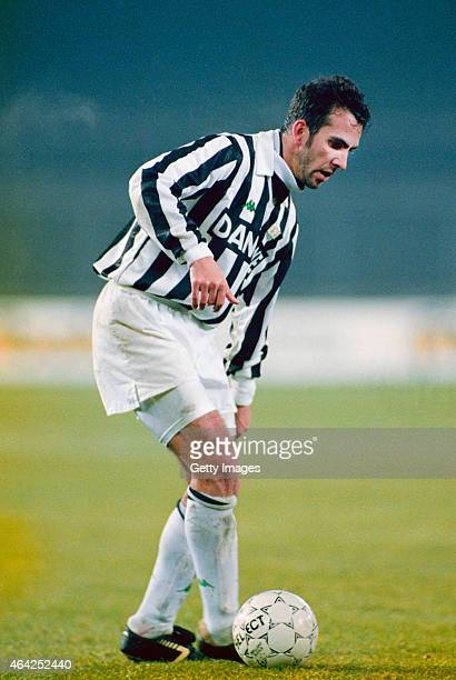 Paolo Di Canio of Juventus in action circa 1992, Di Canio played for the club between 1990-93.