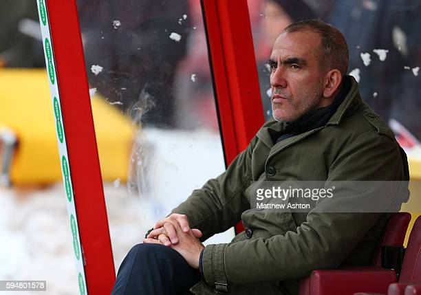 Paolo Di Canio the head coach / manager of Swindon Town