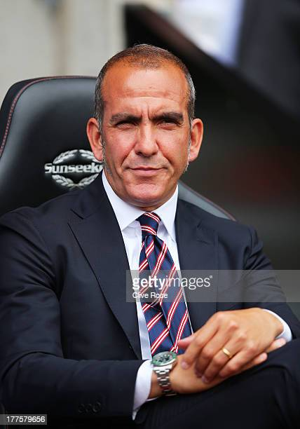 Paolo Di Canio the Sunderland manager looks on during the Barclays Premier League match between Southampton and Sunderland at St Mary's Stadium on...