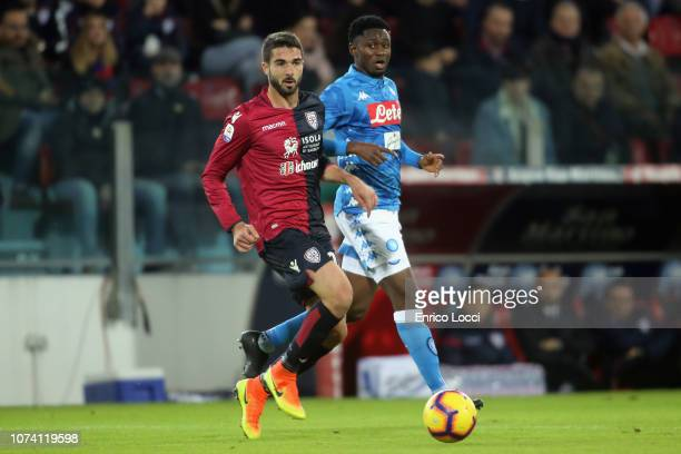Paolo Faragò of Cagliari in action during the Serie A match between Cagliari and SSC Napoli at Sardegna Arena on December 16 2018 in Cagliari Italy