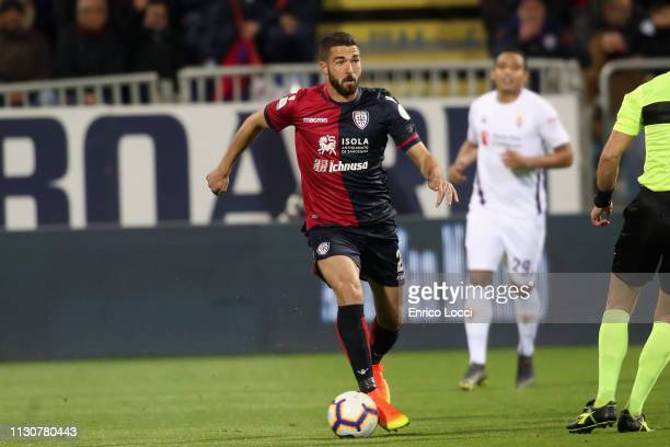 Paolo Faragò of Cagliari in action during the Serie A match between Cagliari and ACF Fiorentina at Sardegna Arena on March 15 2019 in Cagliari Italy