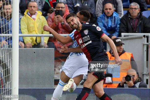 Paolo Faragò of Cagliari in action during the Serie A match between Cagliari and SPAL at Sardegna Arena on April 7 2019 in Cagliari Italy
