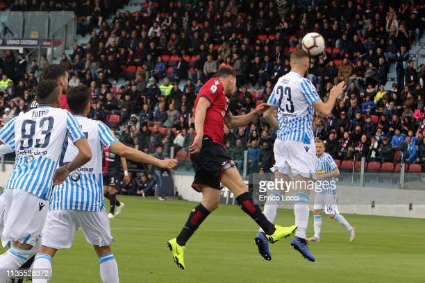 Paolo Faragò of Cagliari scores his goal 11 during the Serie A match between Cagliari and SPAL at Sardegna Arena on April 7 2019 in Cagliari Italy