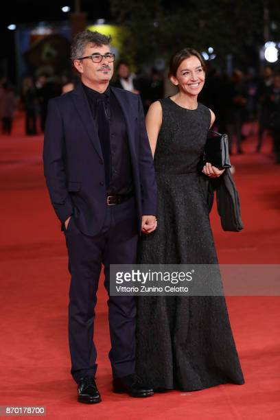 Paolo Genovese and Federica Genovese walk a red carpet for 'The Place' during the 12th Rome Film Fest at Auditorium Parco Della Musica on November 4...