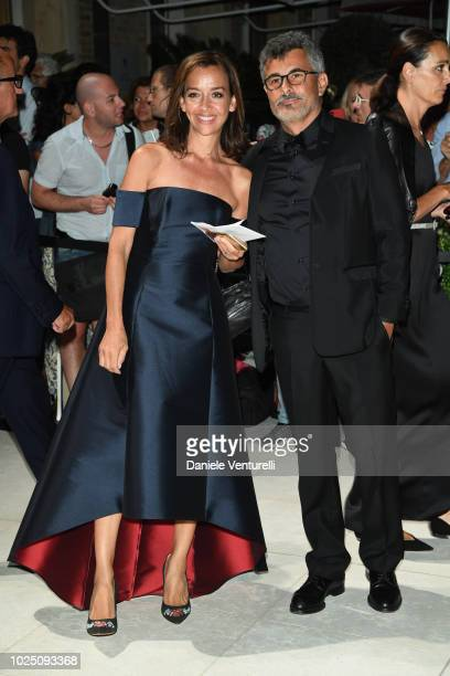 Paolo Genovese and Federica Rizzo attend the Opening Dinner during the 75th Venice Film Festival at Excelsior Hotel on August 29 2018 in Venice Italy