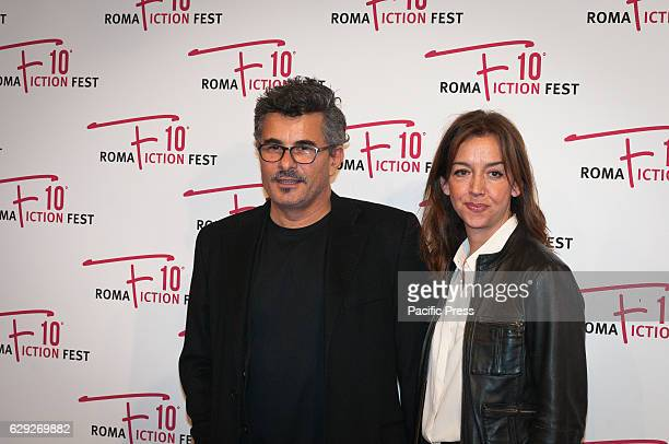 Paolo Genovese and Federica Rizzo attends a red carpet for Immaturi La Serie during the Roma Fiction Fest 2016