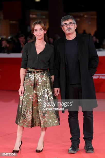 Paolo Genovese and Federica Rizzo walk a red carpet for Hostiles during the 12th Rome Film Fest at Auditorium Parco Della Musica on October 26 2017...