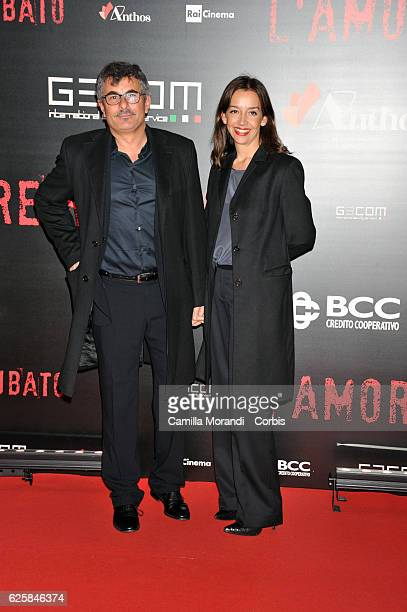 Paolo Genovese and Federica Rizzo walk a red carpet for 'L'Amore Rubato' on November 25 2016 in Rome Italy
