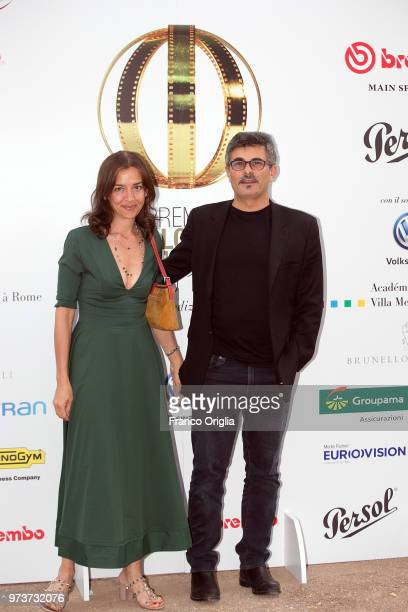 Paolo Genovese and his wife Federica attend Globi D'Oro awards ceremony at the Academie de France Villa Medici on June 13 2018 in Rome Italy