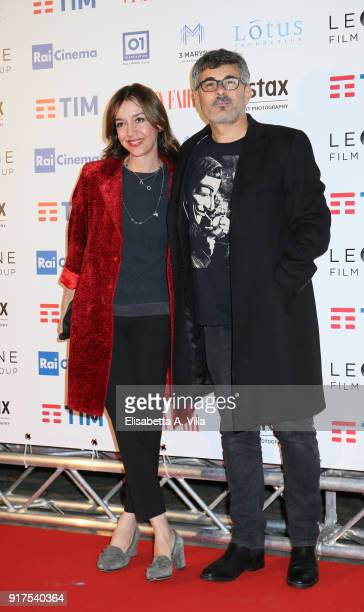 Paolo Genovese and wife Federica Rizzo attend 'A Casa Tutti Bene' premiere on February 12 2018 in Rome Italy