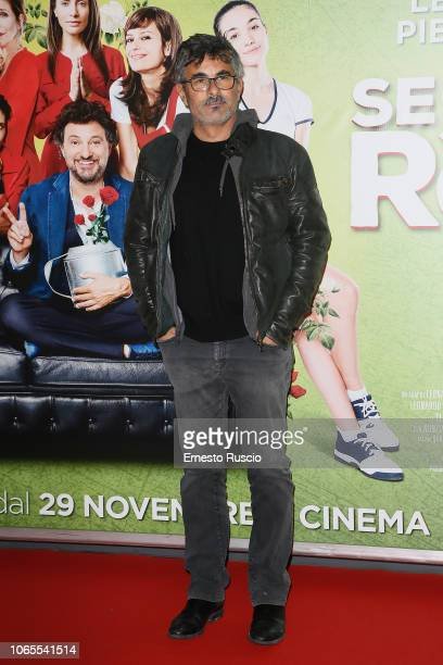 Paolo Genovese walks the red carpet ahead of the Se Son Rose premiere at Cinema Adriano on November 26 2018 in Rome Italy