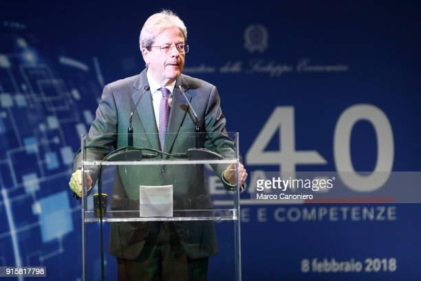 Paolo Gentiloni Italian Prime Minister during the presentation of results of Piano Impresa 40 Innovazione e competenze