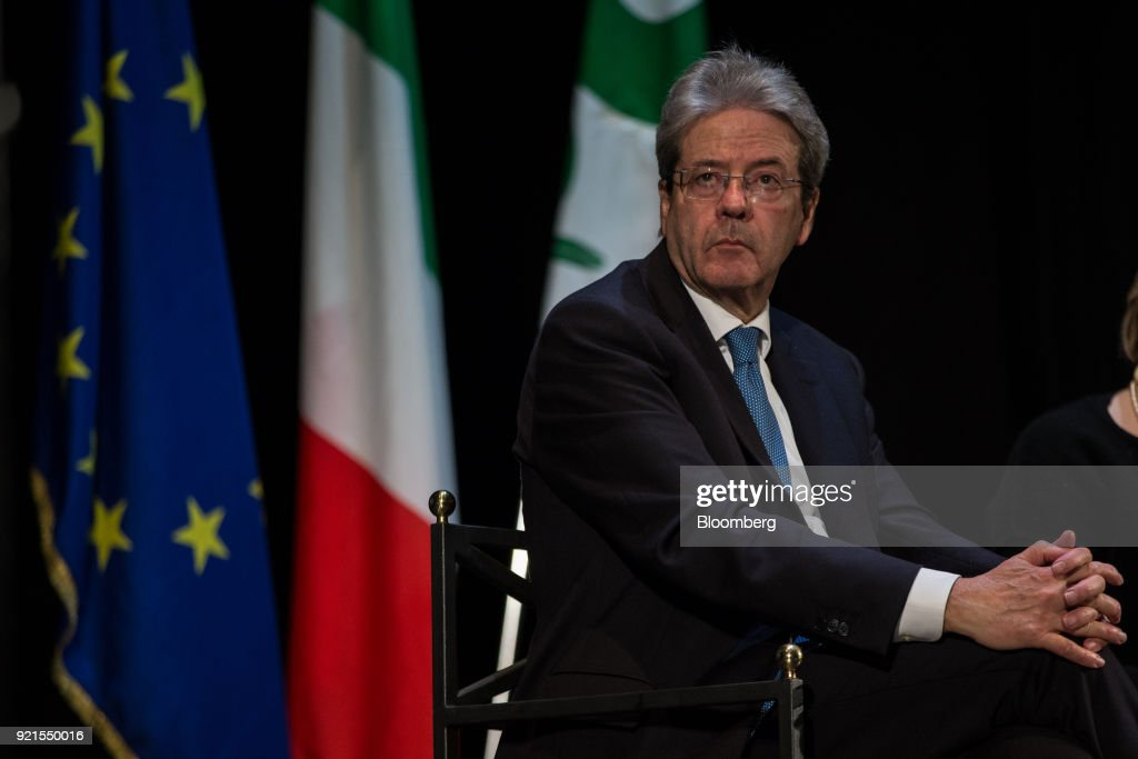 Italy's Prime Minister Paolo Gentoloni Campaigns With Democratic Party Candidate Giorgio Gori Ahead Of The General Election