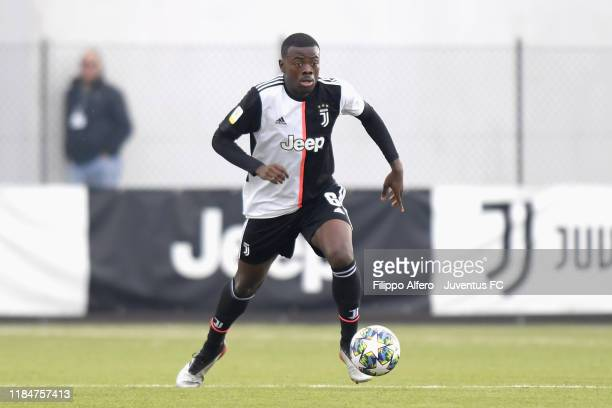 Paolo Gozzi Iweru of Juventus controls the ball during the UEFA Youth League match between Juventus U19 and Atletico Madrid U19 on November 26 2019...