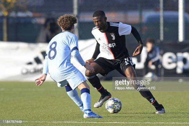 Paolo Gozzi Iweru of Juventus in action during the UEFA Youth League match between Juventus U19 and Atletico Madrid U19 on November 26 2019 in Vinovo...