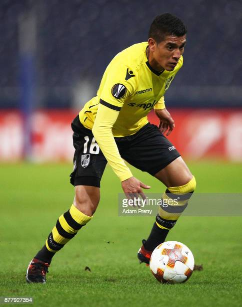 Paolo Hurtado of Vitoria Guimaraes in action during the UEFA Europa League group I match between FC Salzburg and Vitoria Guimaraes at Red Bull Arena...