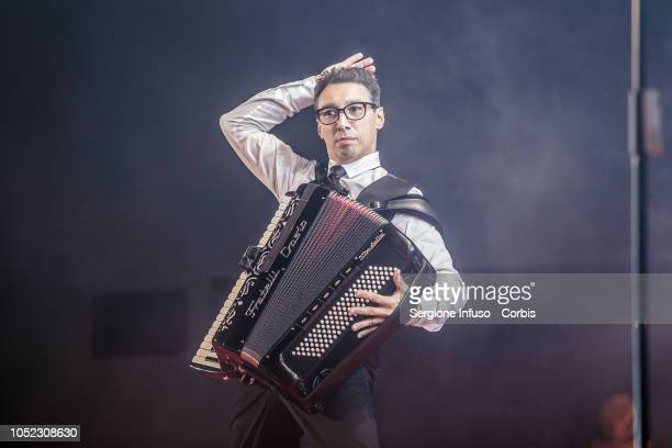 Paolo Jannacci performs on stage at Fabrique Club for JAx on October 16 2018 in Milan Italy
