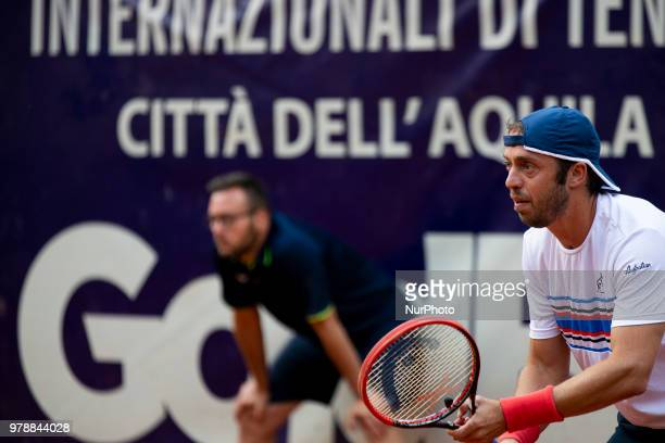 Paolo Lorenzi during match between Carlos Boluda-Purkiss and Paolo Lorenzi during day 4 at the Internazionali di Tennis Città dell'Aquila in...