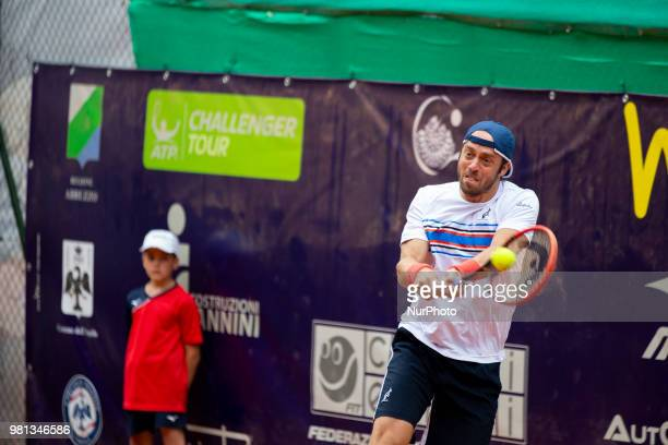 Paolo Lorenzi during match between Filippo Baldi and Paolo Lorenzi during day 7 at the Internazionali di Tennis Città dell'Aquila in L'Aquila, Italy,...