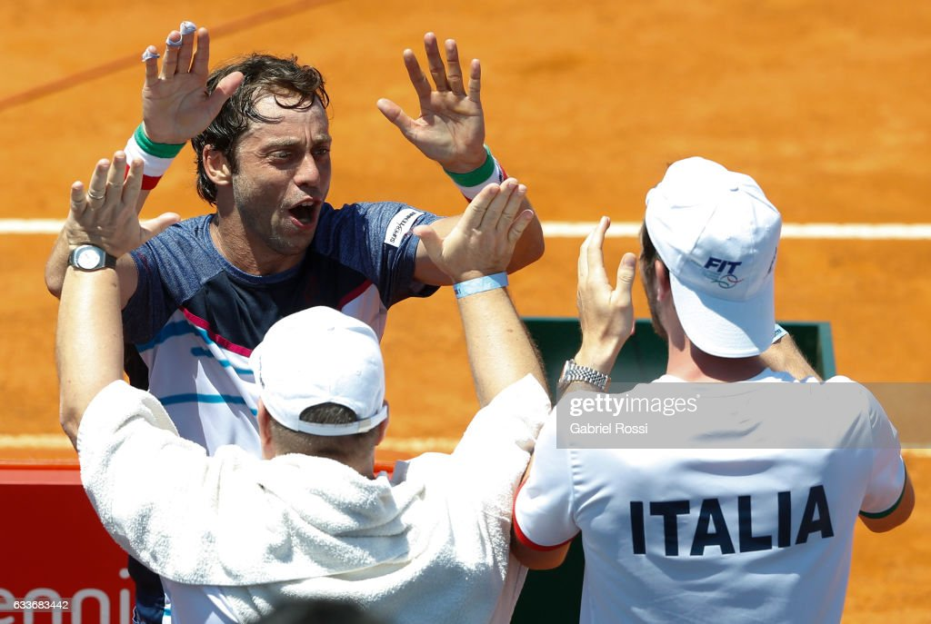 Argentina v Italy - Davis Cup 2017 Day 1