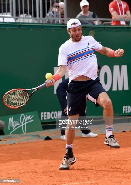 Paolo Lorenzi of Italy during the Monte Carlo Rolex Masters 1000 at Monte Carlo on April 16 2018 in Monaco Monaco