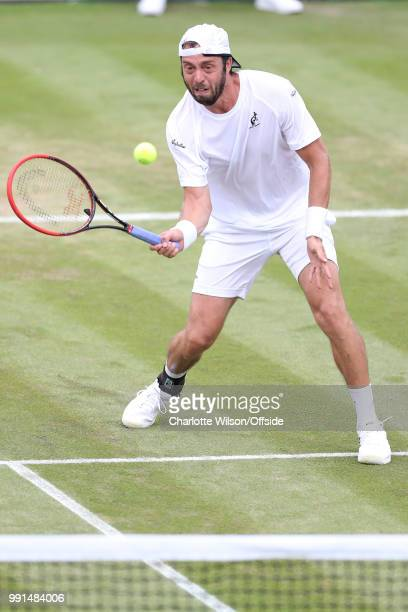 Paolo Lorenzi v Gael Monfils - Paolo Lorenzi at All England Lawn Tennis and Croquet Club on July 4, 2018 in London, England.