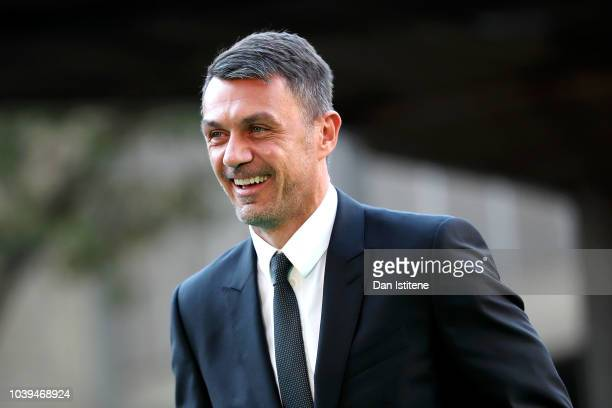 Paolo Maldini arrives on the Green Carpet ahead of The Best FIFA Football Awards at Royal Festival Hall on September 24 2018 in London England