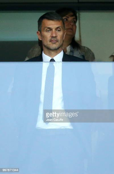 Paolo Maldini attends the 2018 FIFA World Cup Russia Semi Final match between England and Croatia at Luzhniki Stadium on July 11 2018 in Moscow Russia