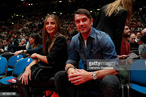 Paolo Maldini attends the game between the Boston Celtics and Emporio Armani Milano as part of the 2015 Global Games on October 6 2015 at the...