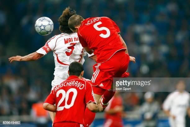 Paolo MALDINI / Daniel AGGER - - Milan Ac / Liverpool - Finale de Champions League - Athenes ,