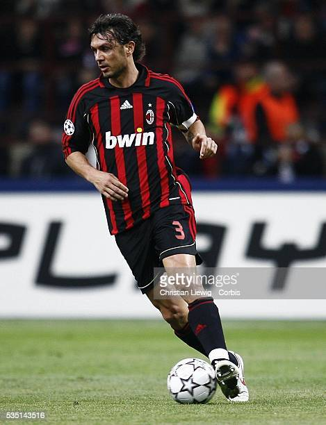 Paolo Maldini during the 20062007 UEFA Champions League match between Milan AC and Bayern Munich