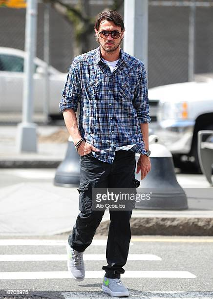 Paolo Maldini is seen in Soho on April 19 2013 in New York City